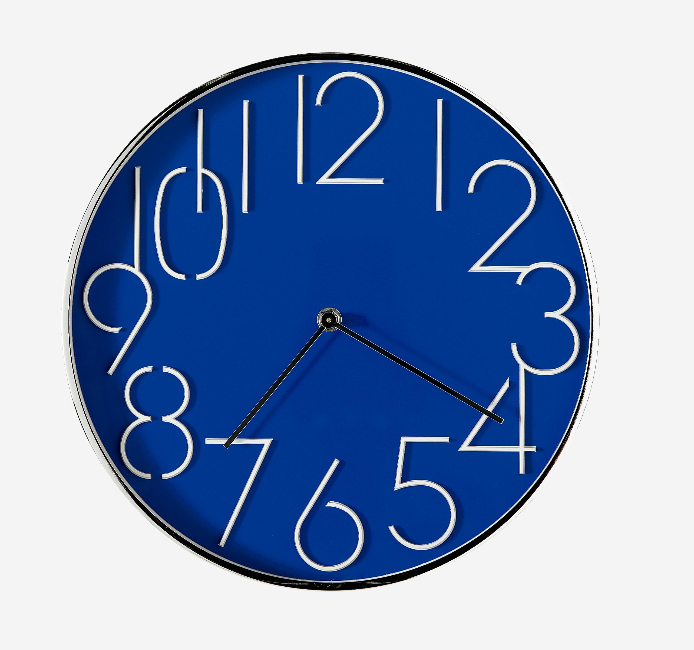 Reloj redondo 30cm color azul