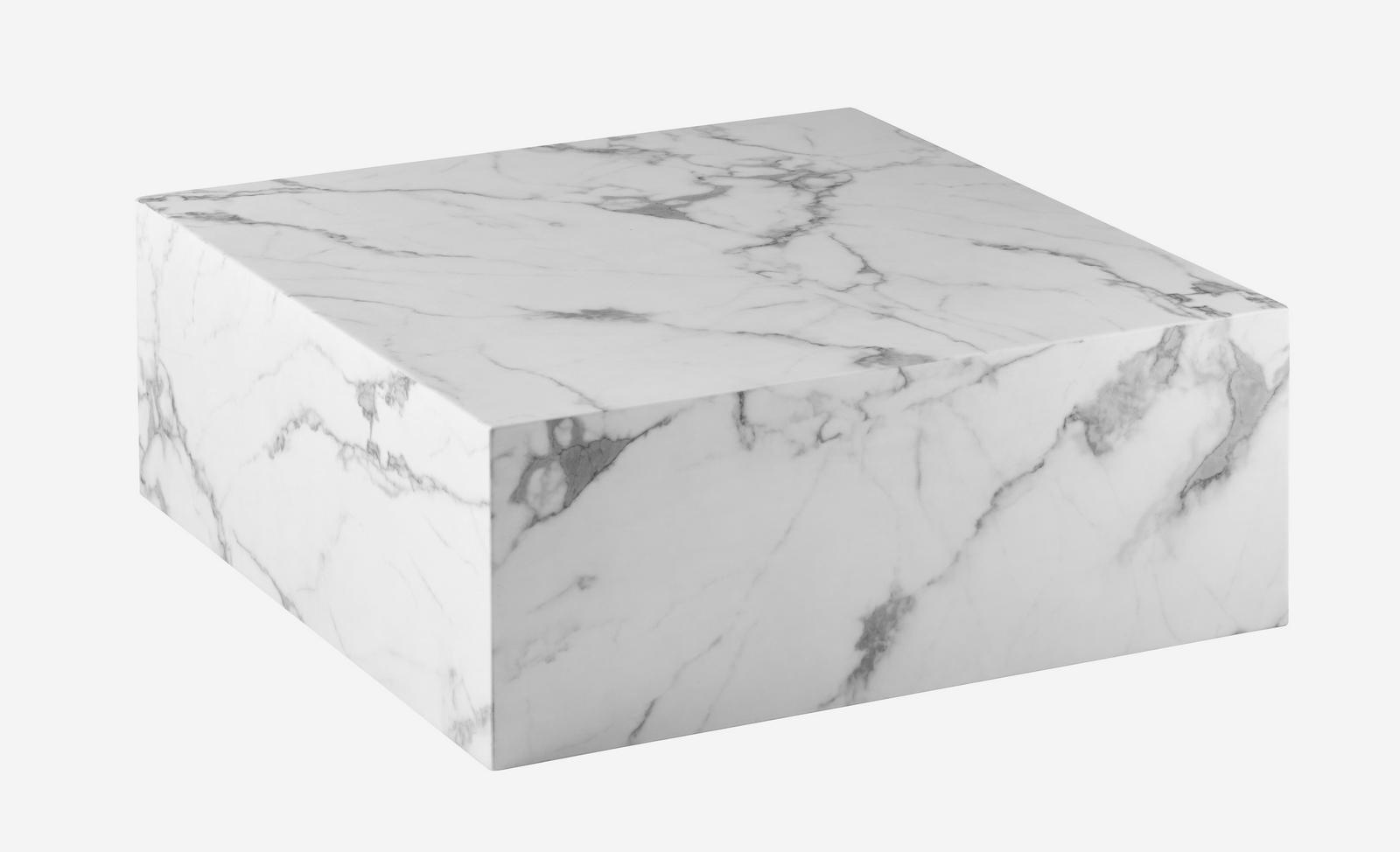 Mesa de centro cuadrada core blanca