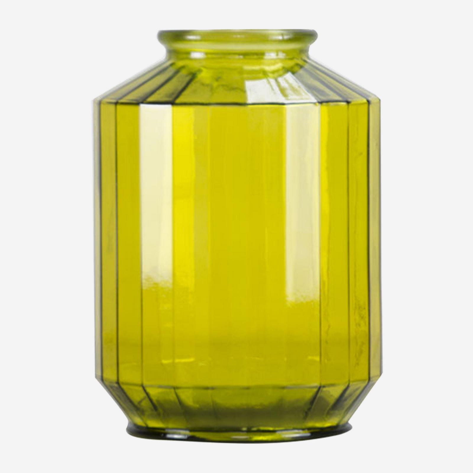 Jarron strepe 35 cm amarillo