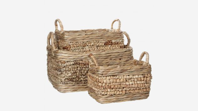 Set de 3 cestas Lara beige