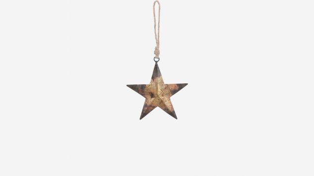 Estrella de Navidad cobre