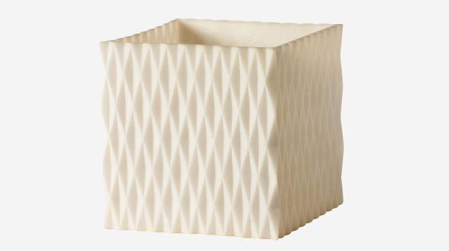 Portavelas Shadow blanco 15 cm