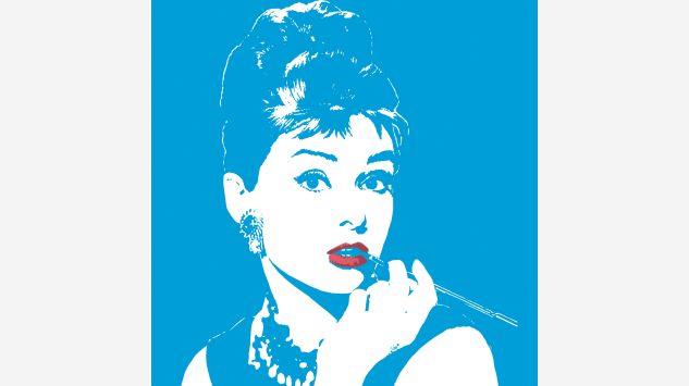Cuadro Audrey azul 105x105 cm