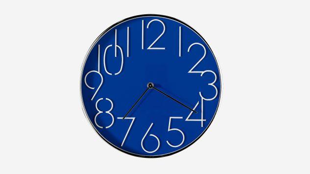 Reloj redondo azul 30 cm