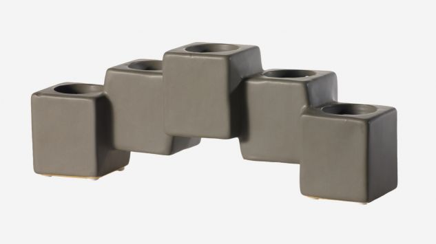 Candelabro Blocks gris
