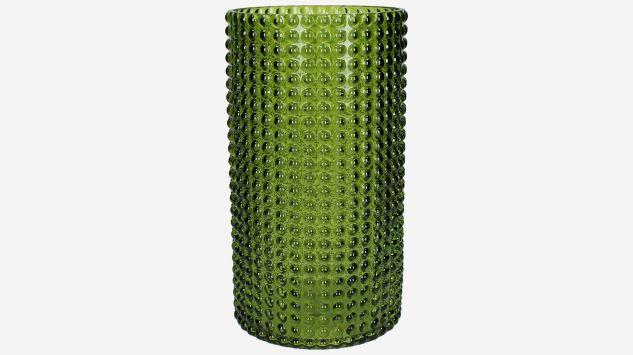 Portavelas verde grande