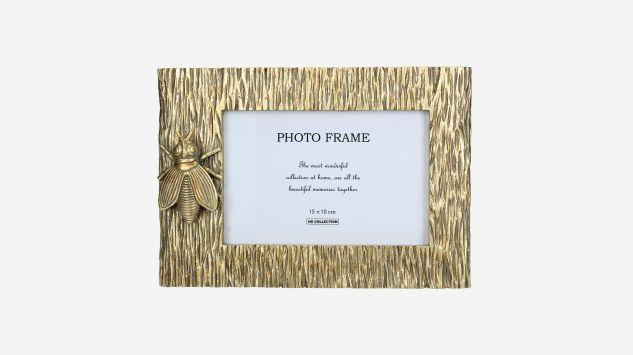Marco de fotos de polirresina dorado
