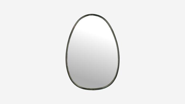 Espejo ovalado metal negro 73 cm