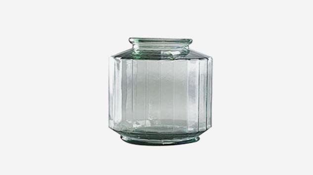 Jarrón Strepe transparente 23 cm