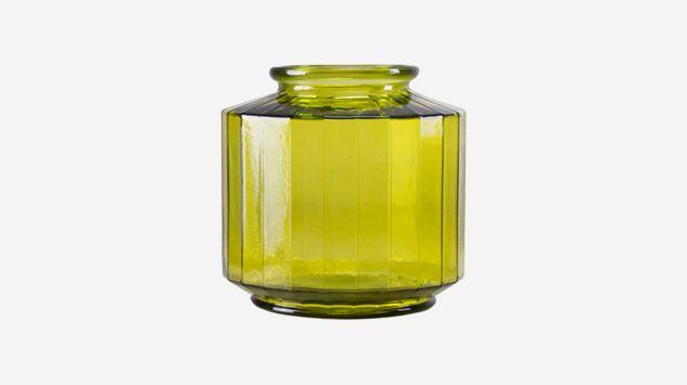 Jarrón Strepe amarillo 23 cm
