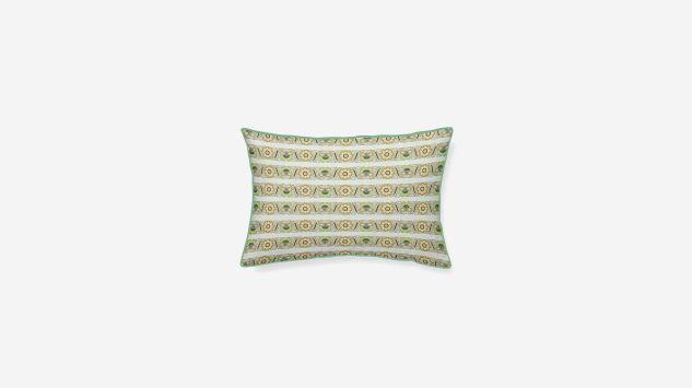 Cojín algodón Denali verde 45x30 cm