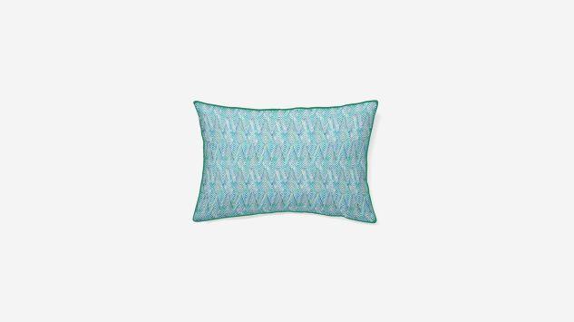 Cojín lino Delko azul 45x30 cm