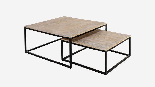 Set de 2 mesas de centro Craft