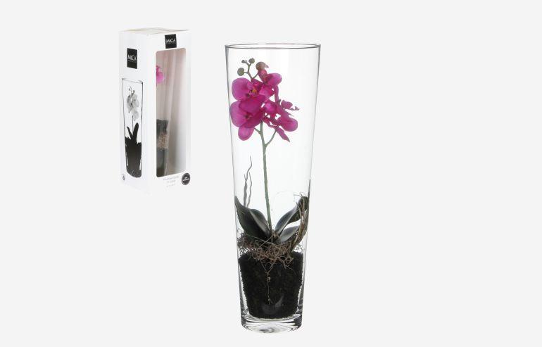 Flor Orchid morado 50 cm