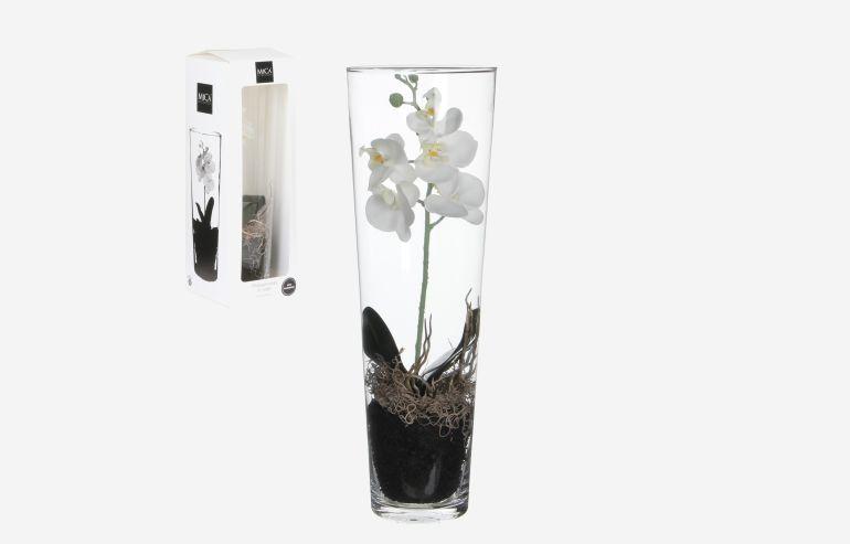 Flor Orchid blanco 50 cm