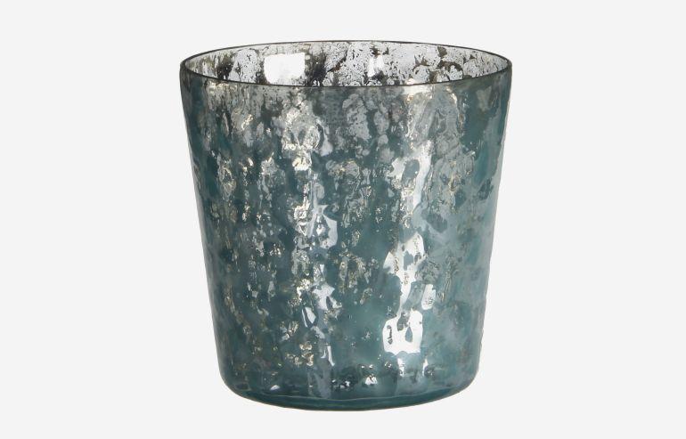 Portavelas Beni azul 10,5 cm