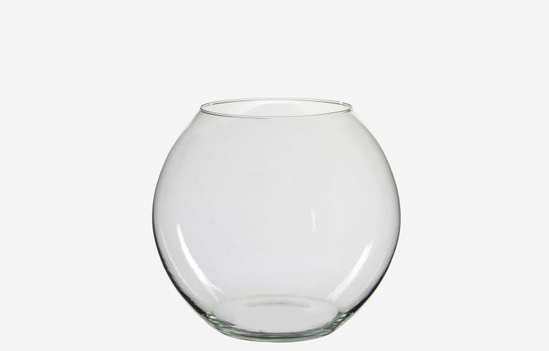 Jarrón Roza transparente 29,5 cm