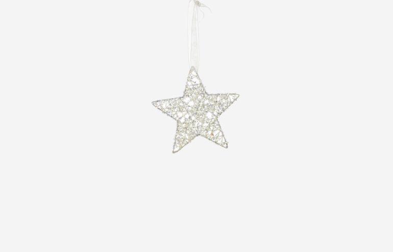 Adorno de navidad Star blanco