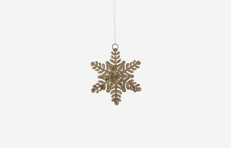SNOWFLAKE CHAMPAGNE CHRISTMAS ORNAMENT
