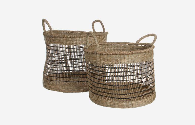 Set de 2 cestas Harper marrón
