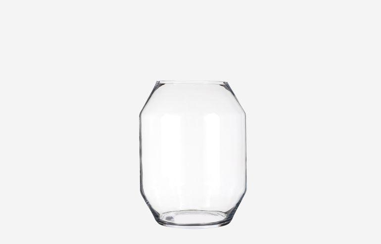 Jarrón Vienne transparente 33 cm