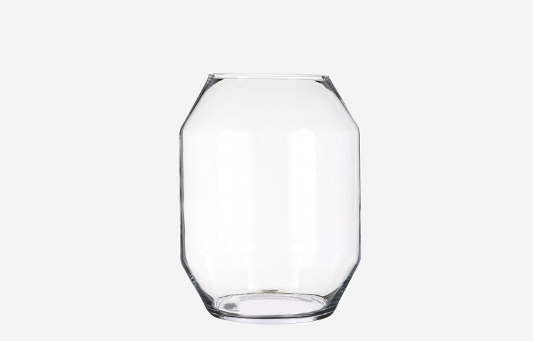 Jarrón Vienne transparente 40 cm