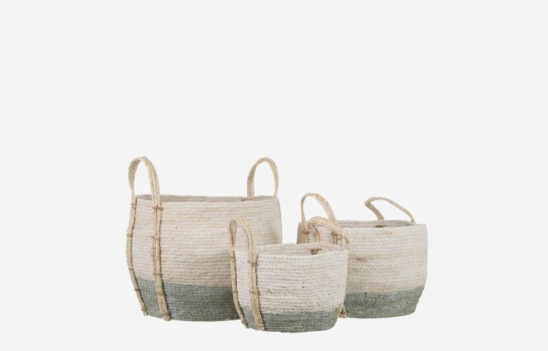 Set de 3 cestas Andros verde