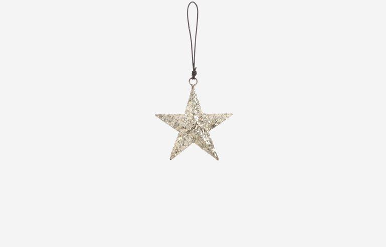 Estrella de navidad plata