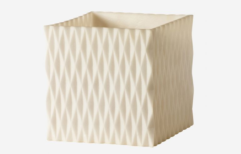 Shadow white candleholder 15 cm