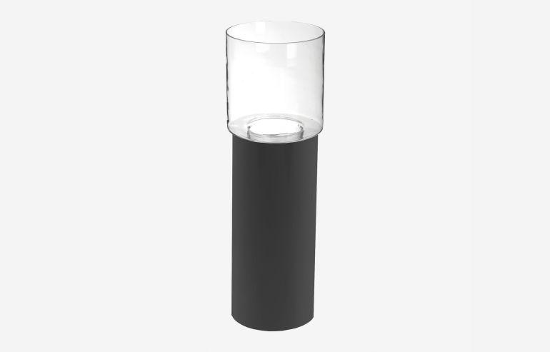 Jarrón + base negro 60 cm