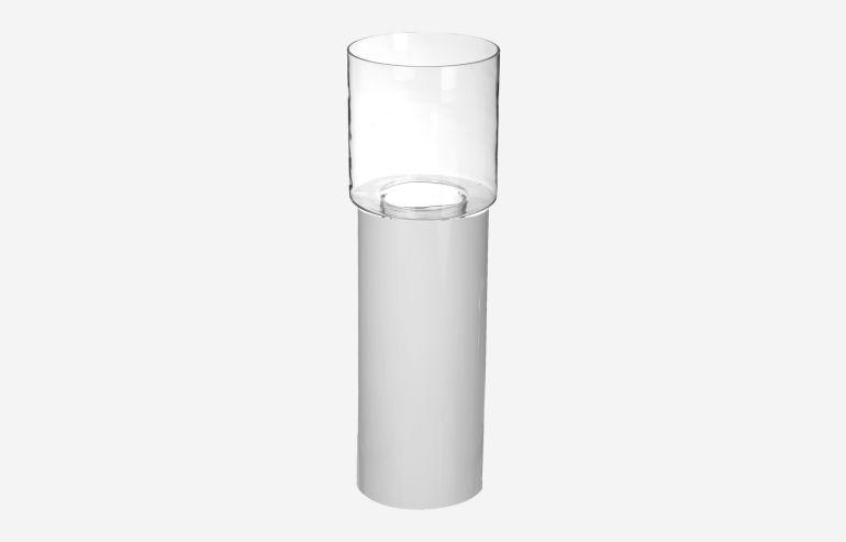 Jarrón + base blanco 60 cm