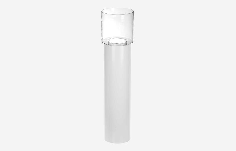 Jarrón + base blanco 100 cm