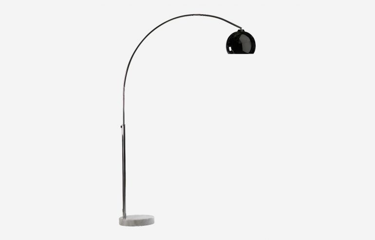 New york chrome floor lamp