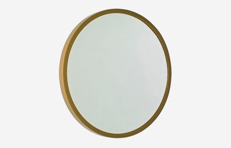 Espejo redondo 60 cm latonado Reflection