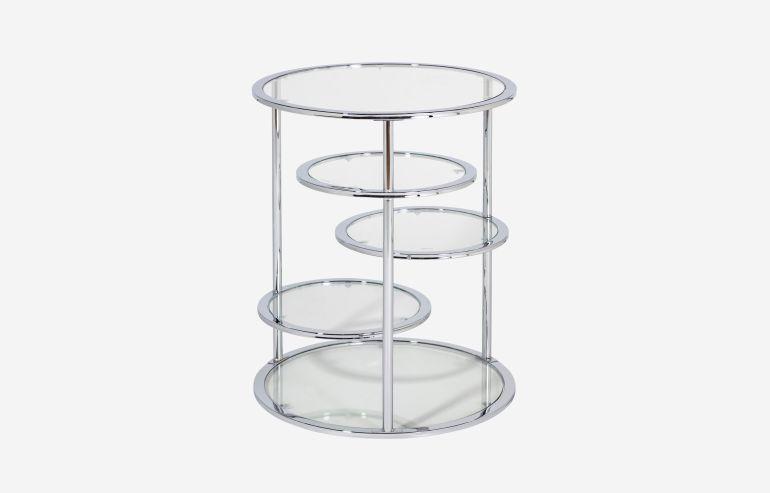 Optical lents side table