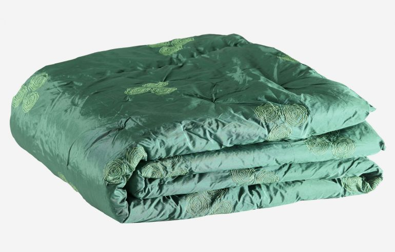 Floral green comforter 240x260 cm