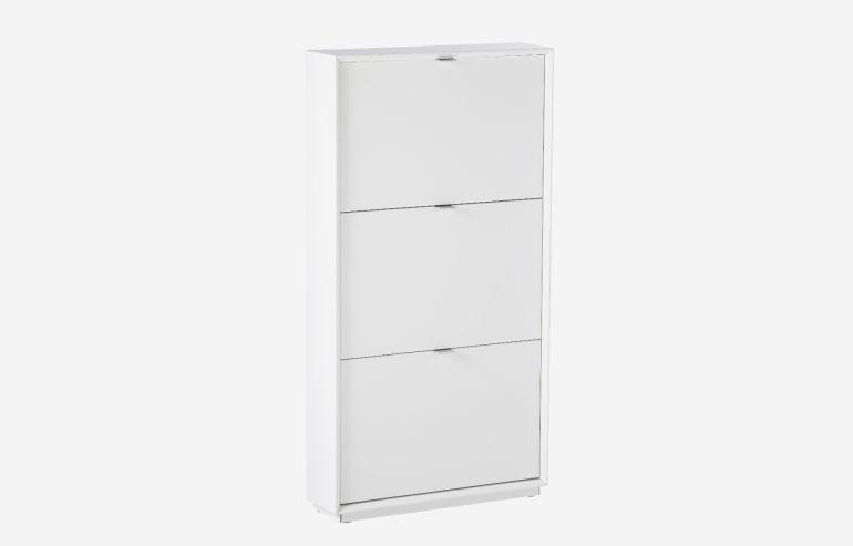 White shoe rack 3 doors