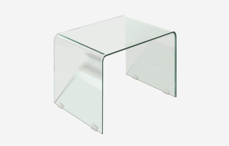 Transparente corner table