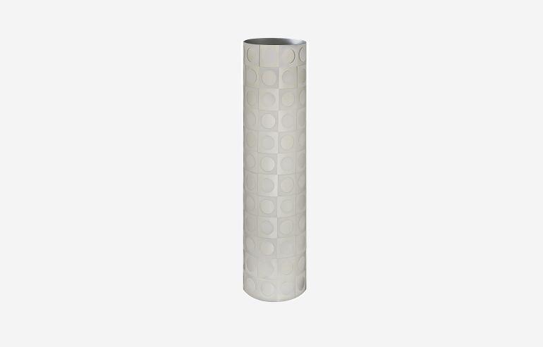 Saturday night white vase
