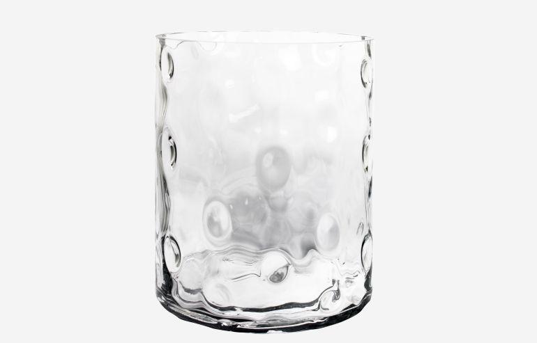 Large turtle transparent vase