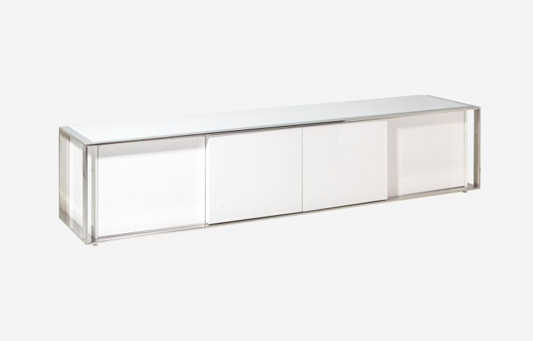 MUEBLE TV 220CM SUITE LACADO BLANCO