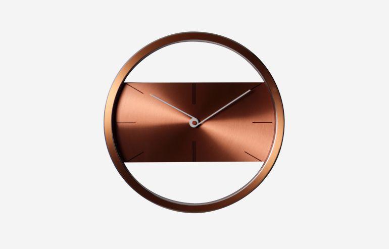 """Belt light brown 12"""" clock"""
