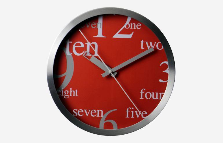 "Reloj 10"" Numbers rojo"
