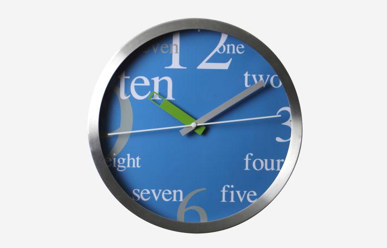 "Reloj 10"" Numbers azul"