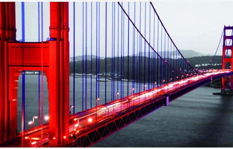 Cuadro cristal Golden Gate