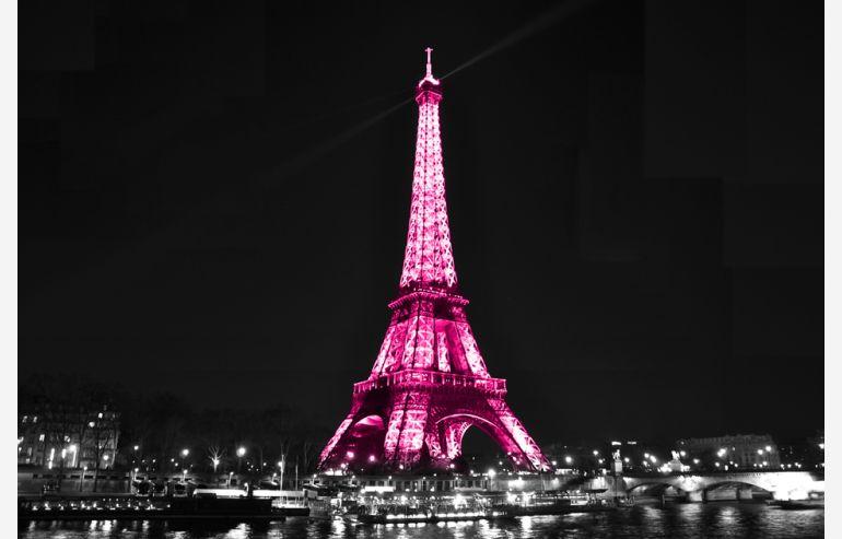 Cuadro cristal Eiffel by night