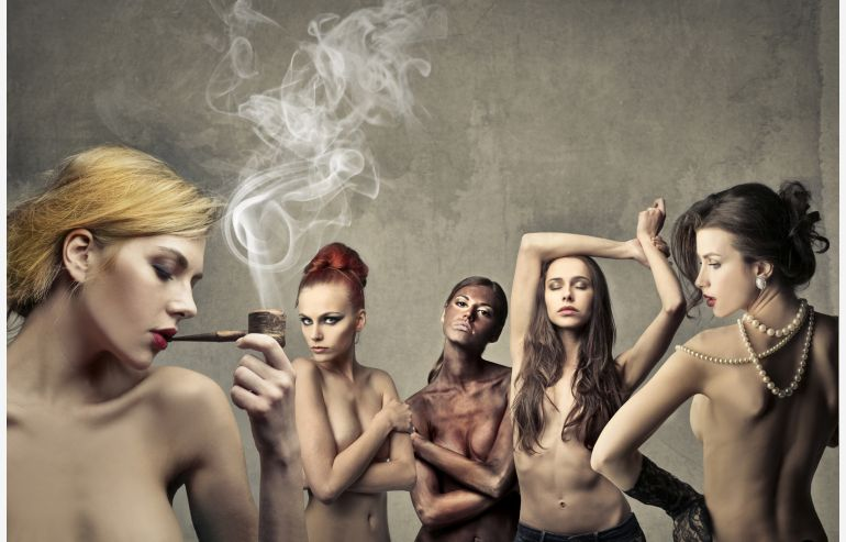 Cuadro cristal Nude & Rebel
