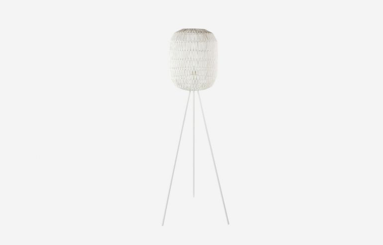 Cotton white floor lamp