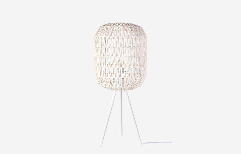 Cotton white table lamp