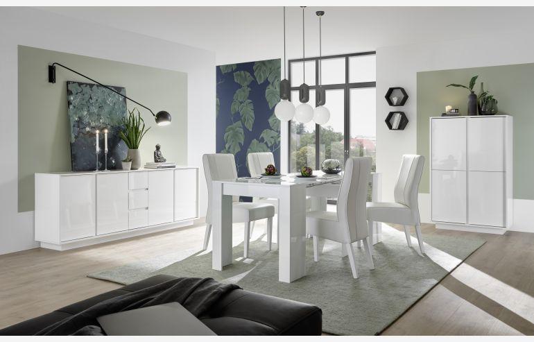 Mesa de comedor -  consola Ice blanco brillo